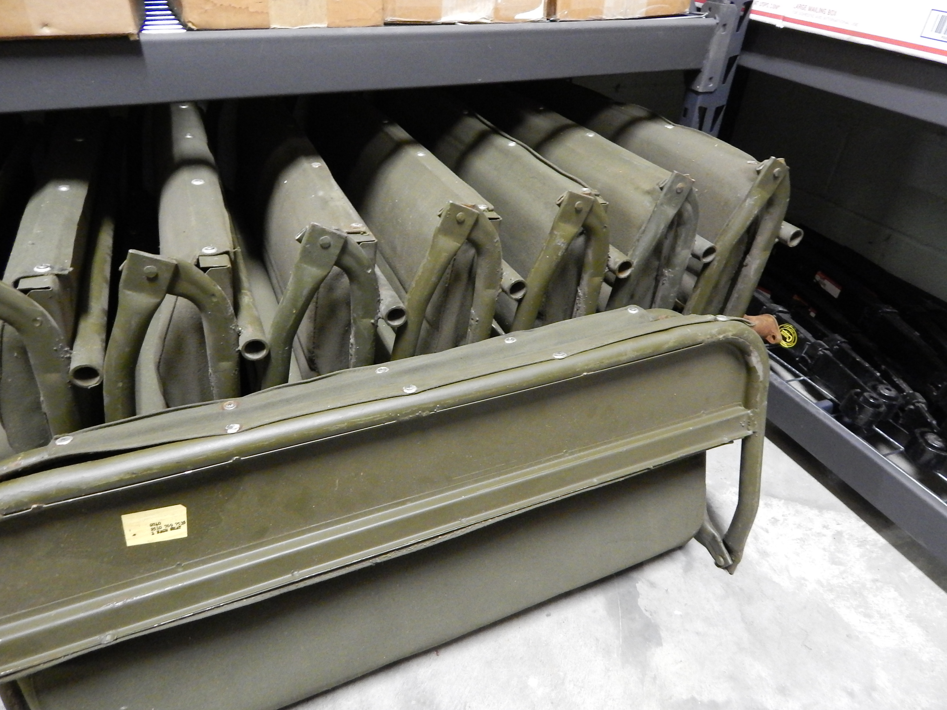 click on images for a larger view! NOS WILLYS M38 / M38A1 REAR SEAT