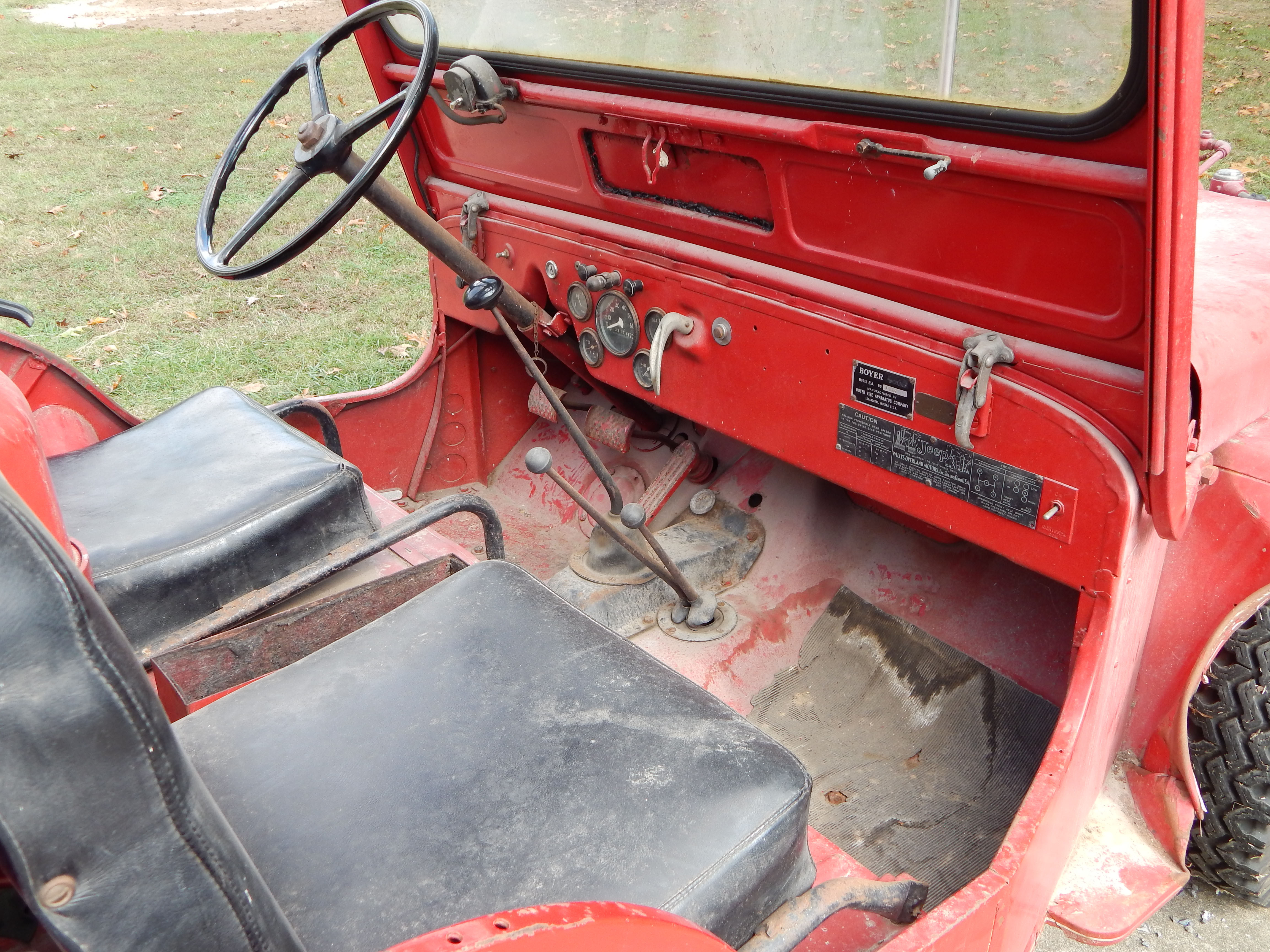 Truck Accessories Store >> 1949 Willys CJ3A Fire Engine Jeep. Boyer Conversion. Very ...