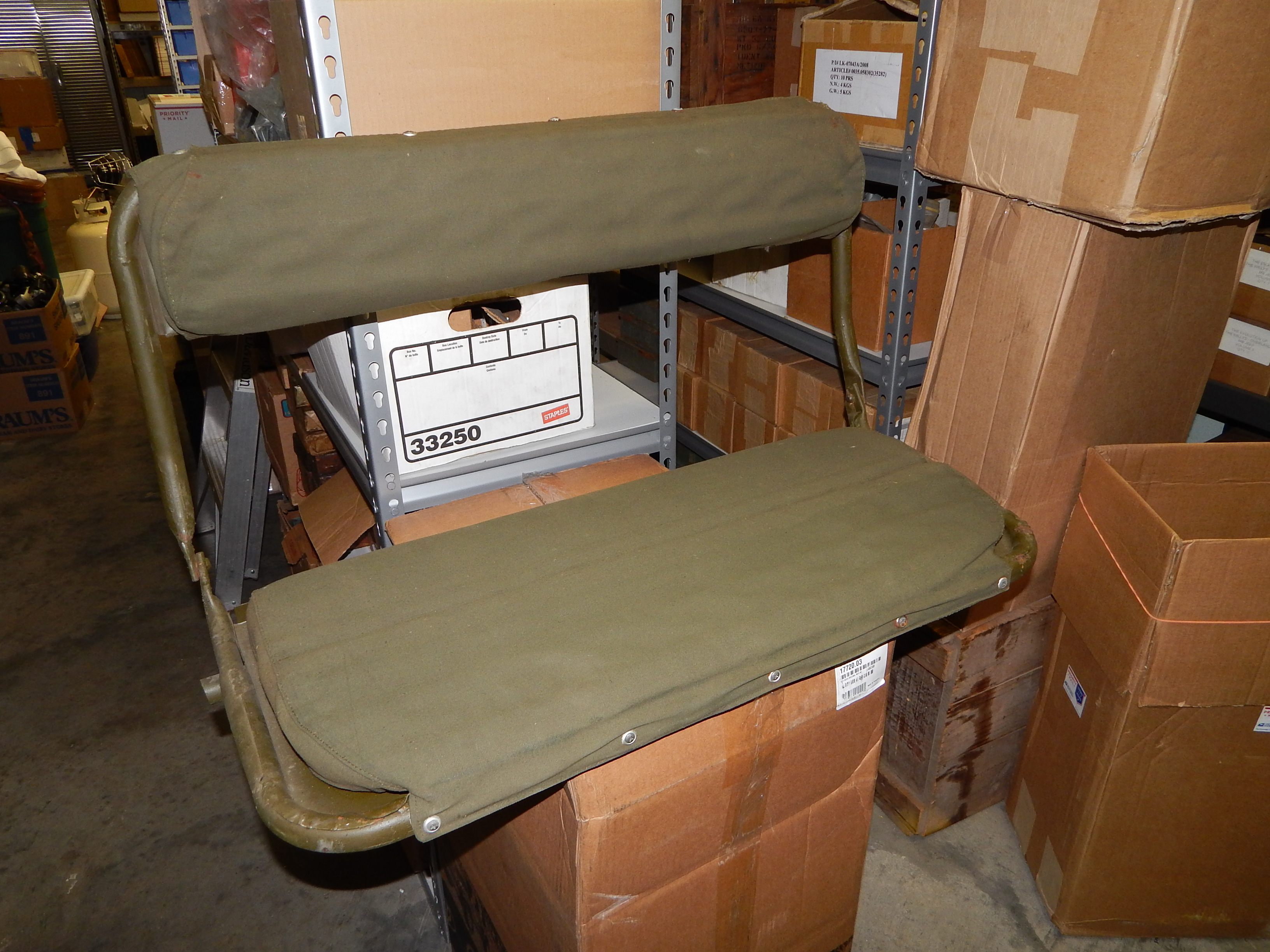 m38 m38a1 rear seat nos classic military vehicles Willys Jeep CJ2A Rear-Seat
