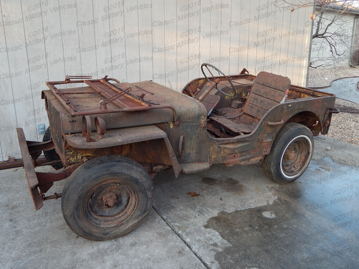 Military Jeep Parts >> Ford Gpw Parts Jeep For Sale Sold Classic Military Vehicles
