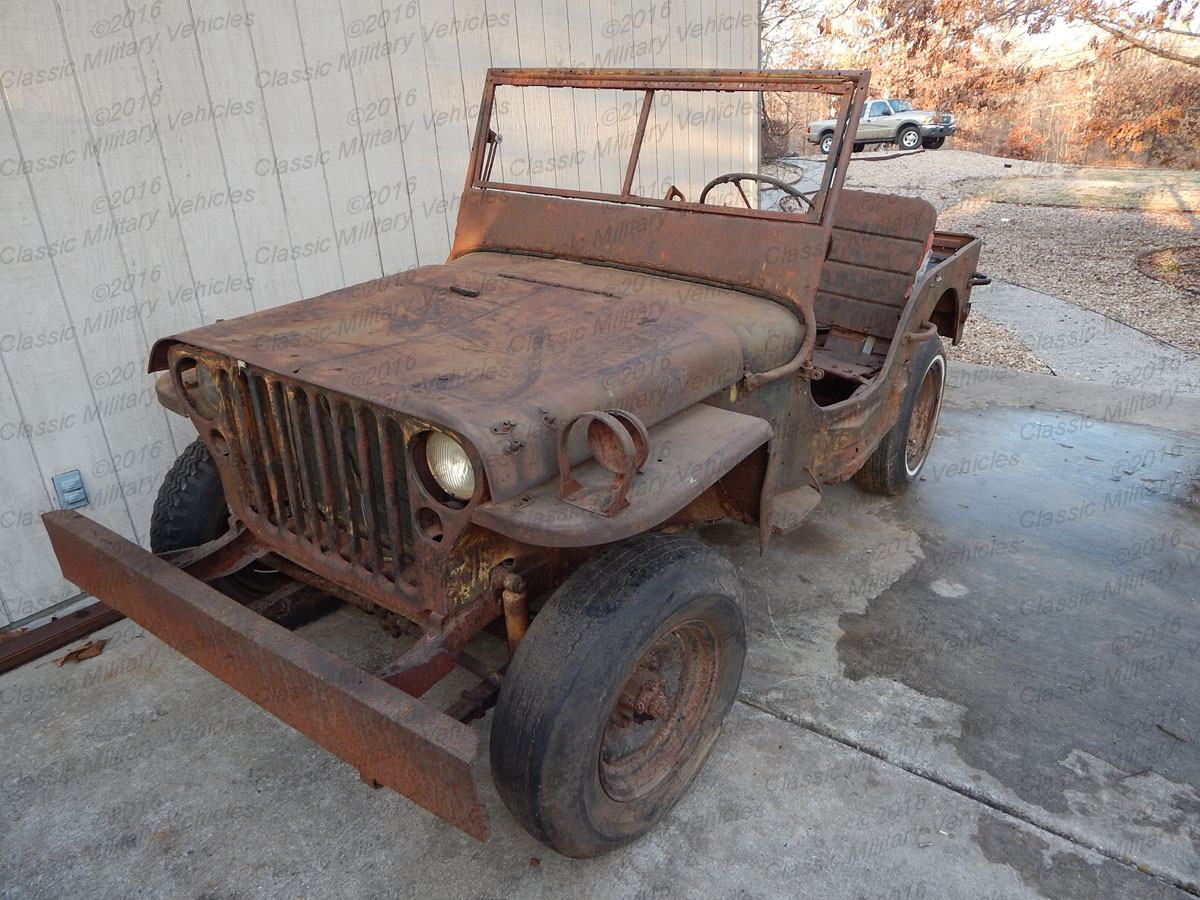 Military Vehicles For Sale >> Ford GPW Parts Jeep for Sale / SOLD   Classic Military ...